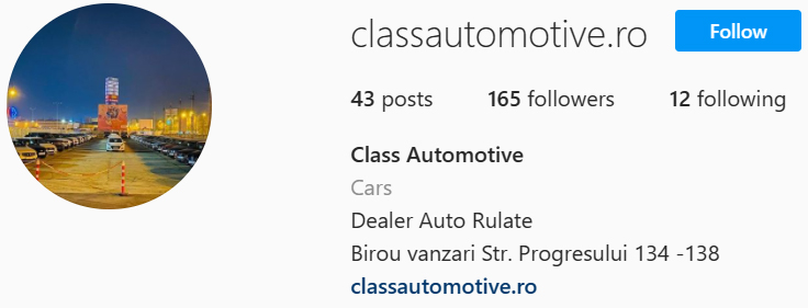 Instagram ClassAutomotive